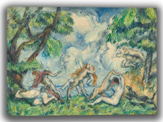 Cezanne, Paul: The Battle of Love. Fine Art Canvas. Sizes: A4/A3/A2/A1 (003957)